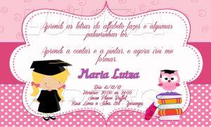 convite formatura Infantilconvite de formatura infantil