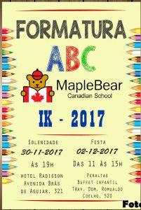 convite formatura ABC