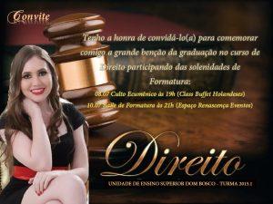 convite formatura Direito