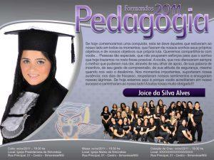 convite formatura Pedagogia