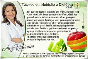 convite formatura Nutrição