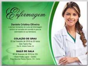 convite formatura Enfermagem