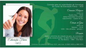 convite formatura Educação física