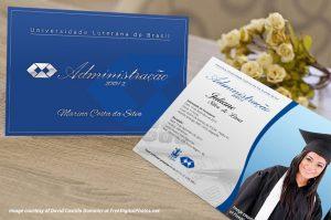convite formatura Administração