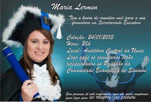 convite formatura Ensino superior