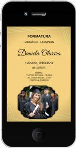 convite formatura Virtual