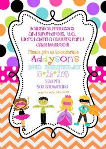 convite festa a fantasia Infantil