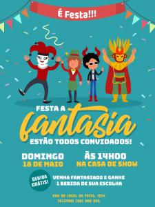 convite festa a fantasia On line
