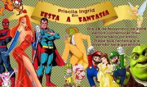 convite festa a fantasia Simples