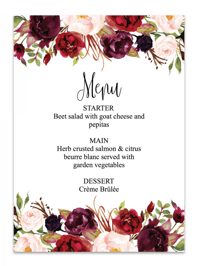 Convite floral Marsalaconvite floral Marsala