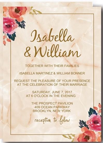 Convite floral Casamentoconvite floral Casamento