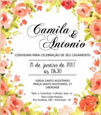 Convite floral Virtualconvite floral Virtual