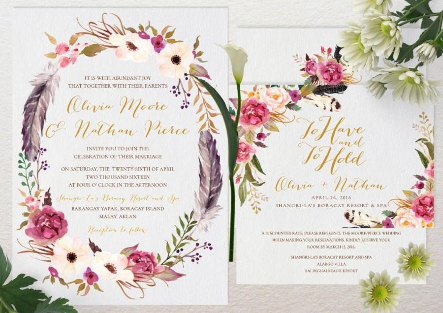 Convite floral Simplesconvite floral Simples