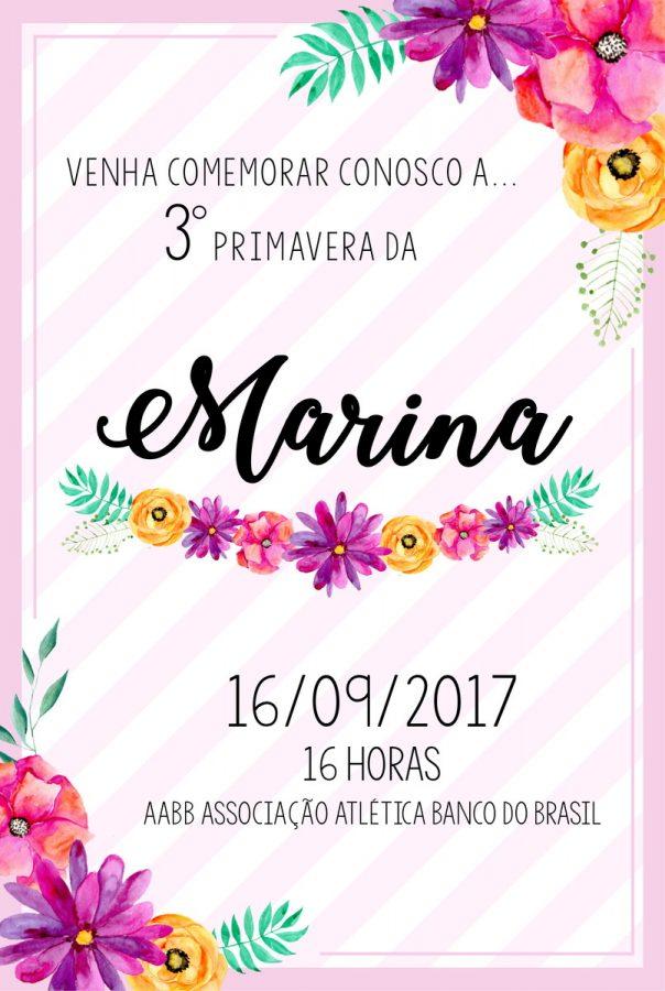 Convite floral Infantilconvite floral Infantil
