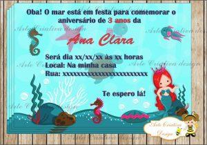 convite fundo do mar Sereia