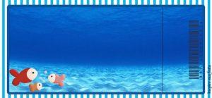 convite fundo do mar Imprimir