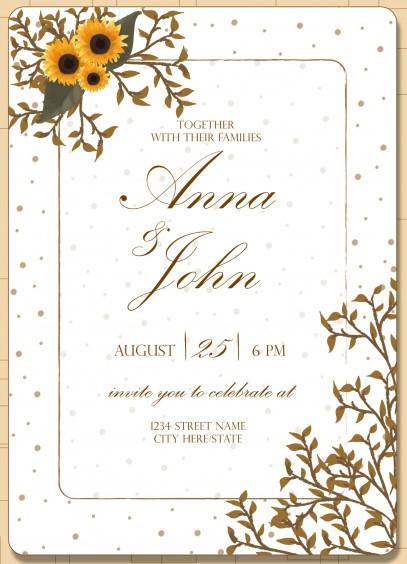 convite girassol Casamento