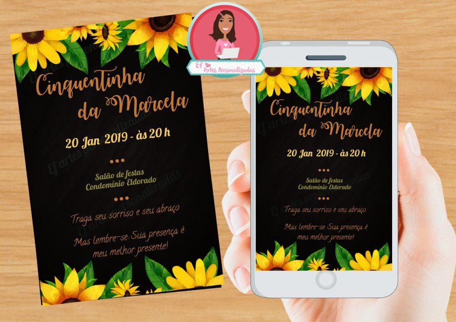 convite girassol On line