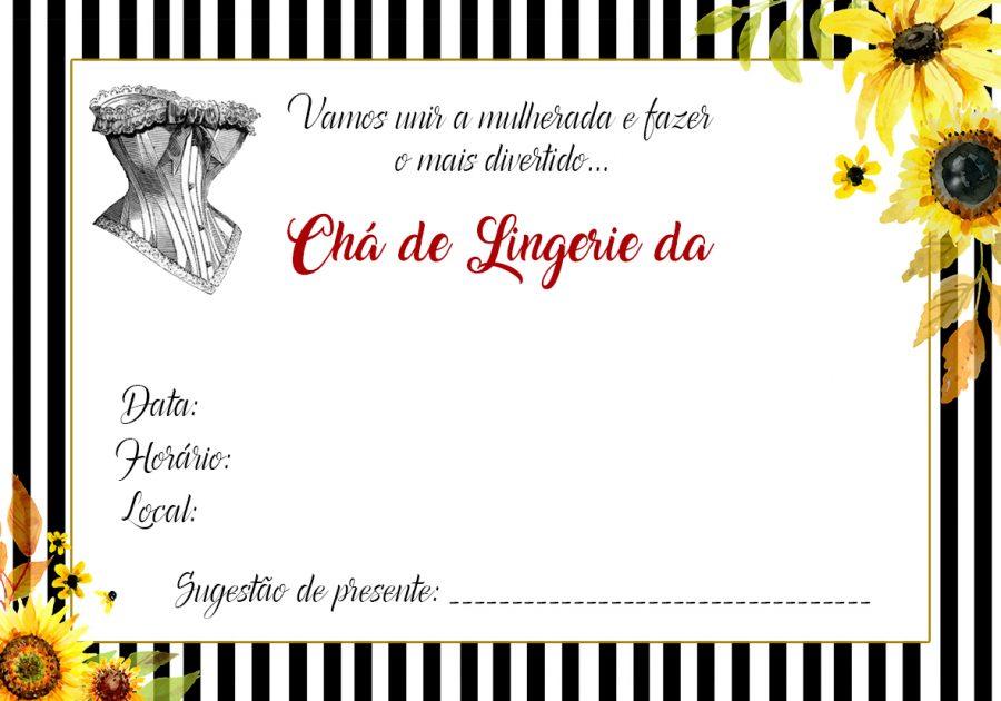 convite girassol Editar