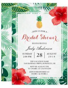 convite havaiano Simples