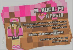 convite minecraft Feminino
