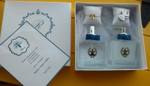convite para padrinhos de batizado luxo