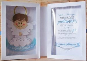 convite para padrinhos de batismo caixa