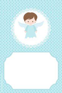 convite para padrinhos de batizado editável