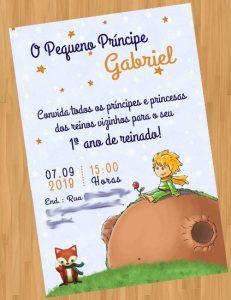 convite pequeno principe Virtual