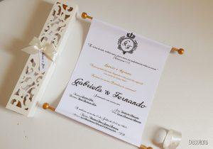 convite pergaminho Simples