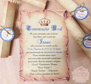 convite pergaminho Realeza