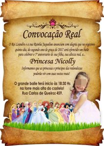 convite pergaminho Virtual