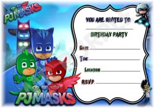 convite pjmasks Editável