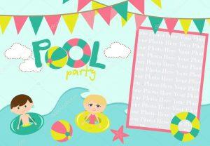 convite pool party Editar