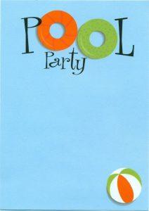 convite pool party Imprimir