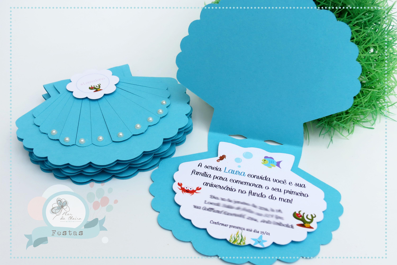 Convite Sereia Concha