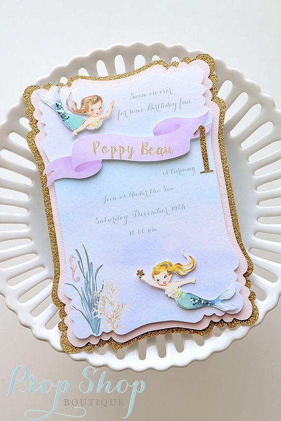 Convite Sereia Cute