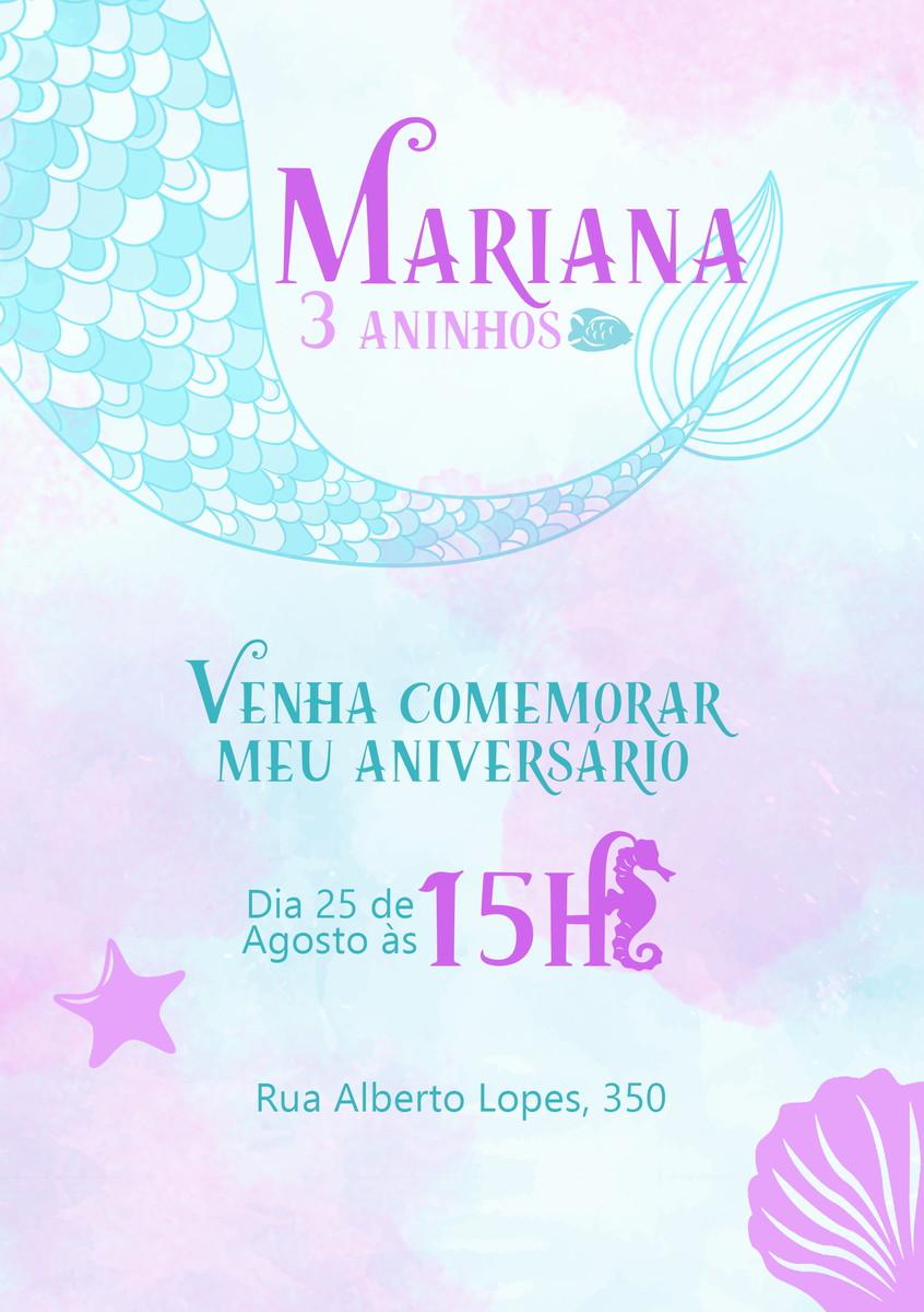 Convite Sereia Virtual