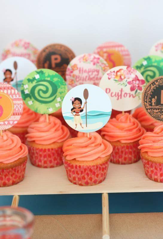 cupcake moana Topper