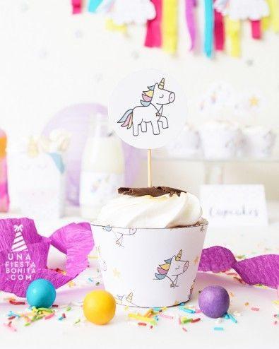 Cupcake Unicórnio Com Topper