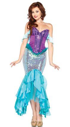 fantasia ariel Vestido