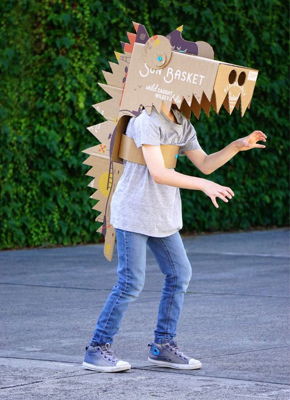 fantasia de dinossauro Improvisada