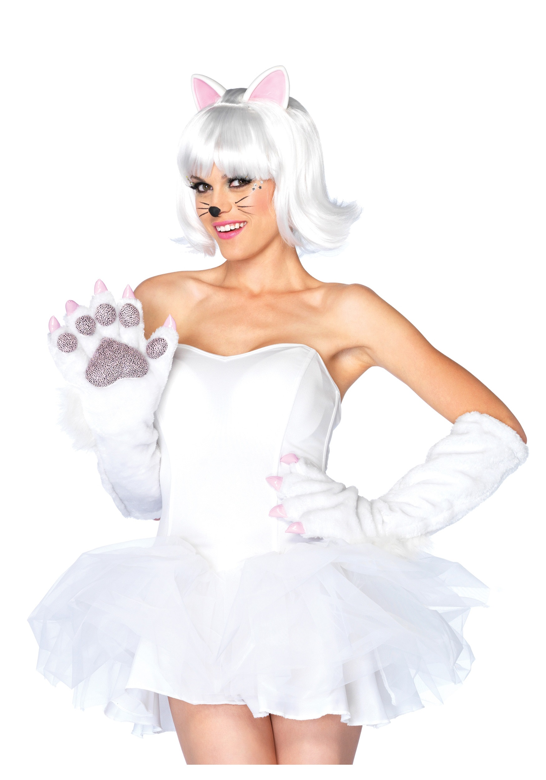 fantasia de gatinha Branca