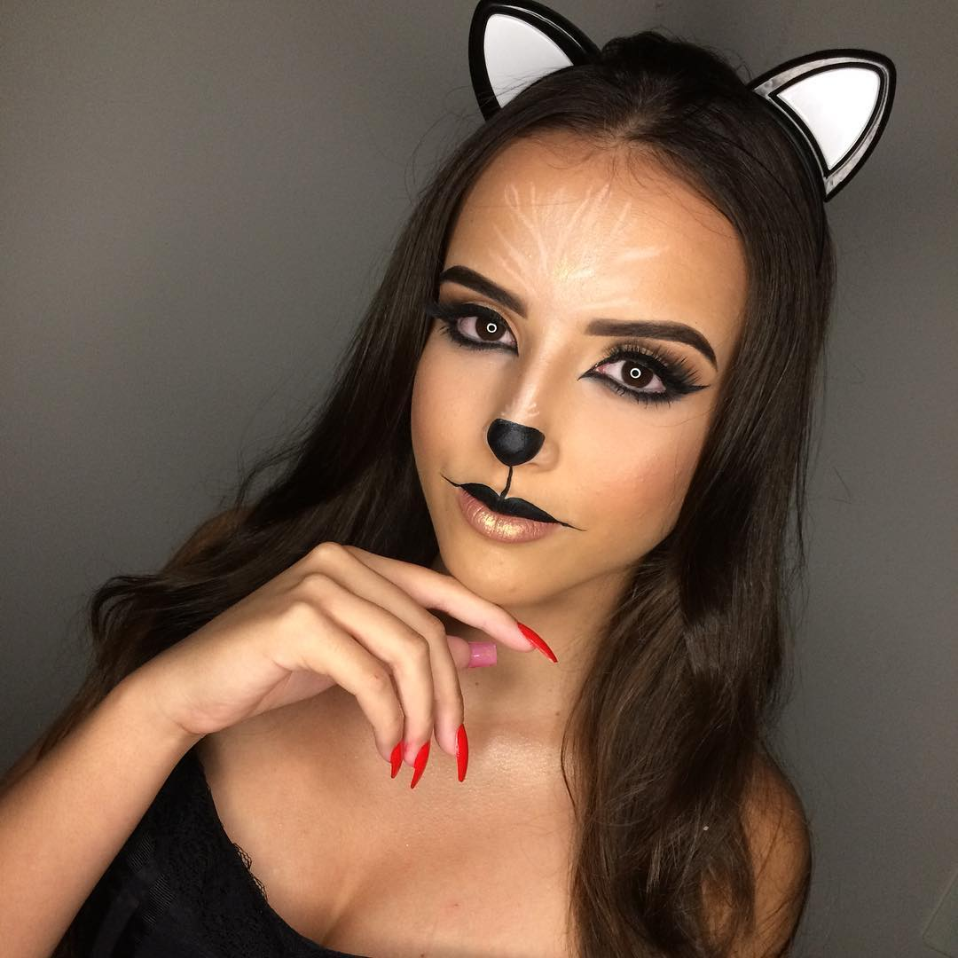 fantasia de gatinha Maquiagem