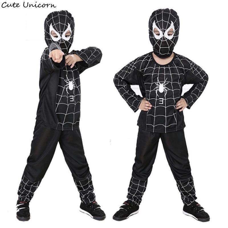 fantasia homem-aranha Preto