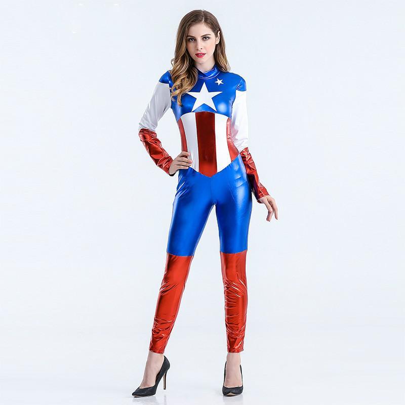 Fantasia Capitão América Feminina