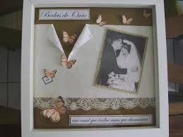Lembrancinha bodas de ouro Scrapbook