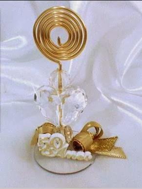 Lembrancinha bodas de ouro Simples