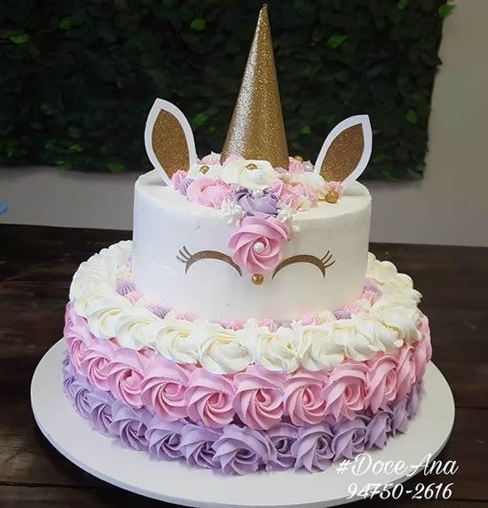bolo decorado feminino Infantil