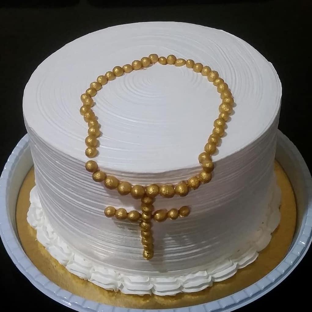 bolo para crisma Simples